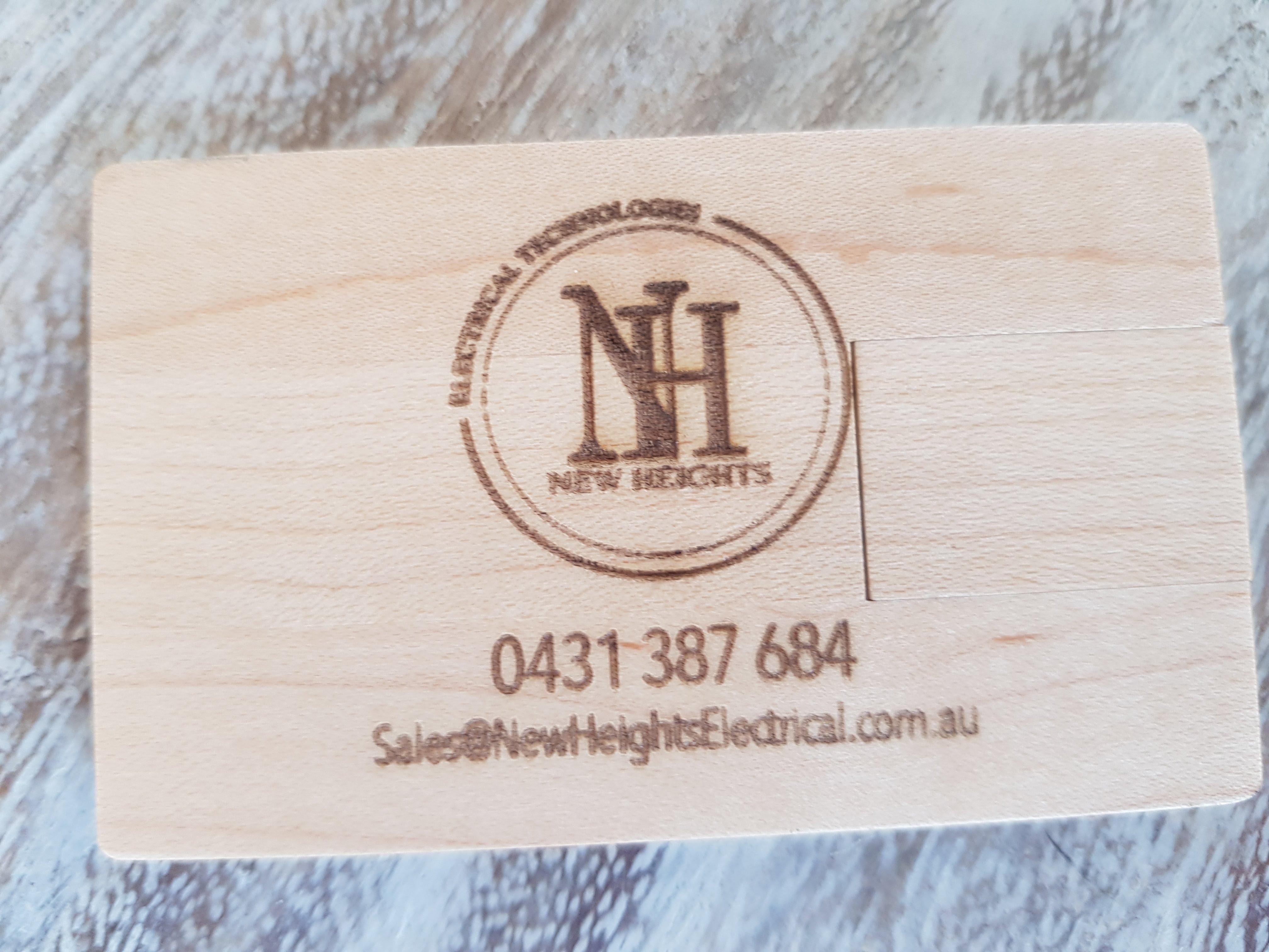 Custom Wood USB Business Cards – Lucid Industries | Laser Cut ...