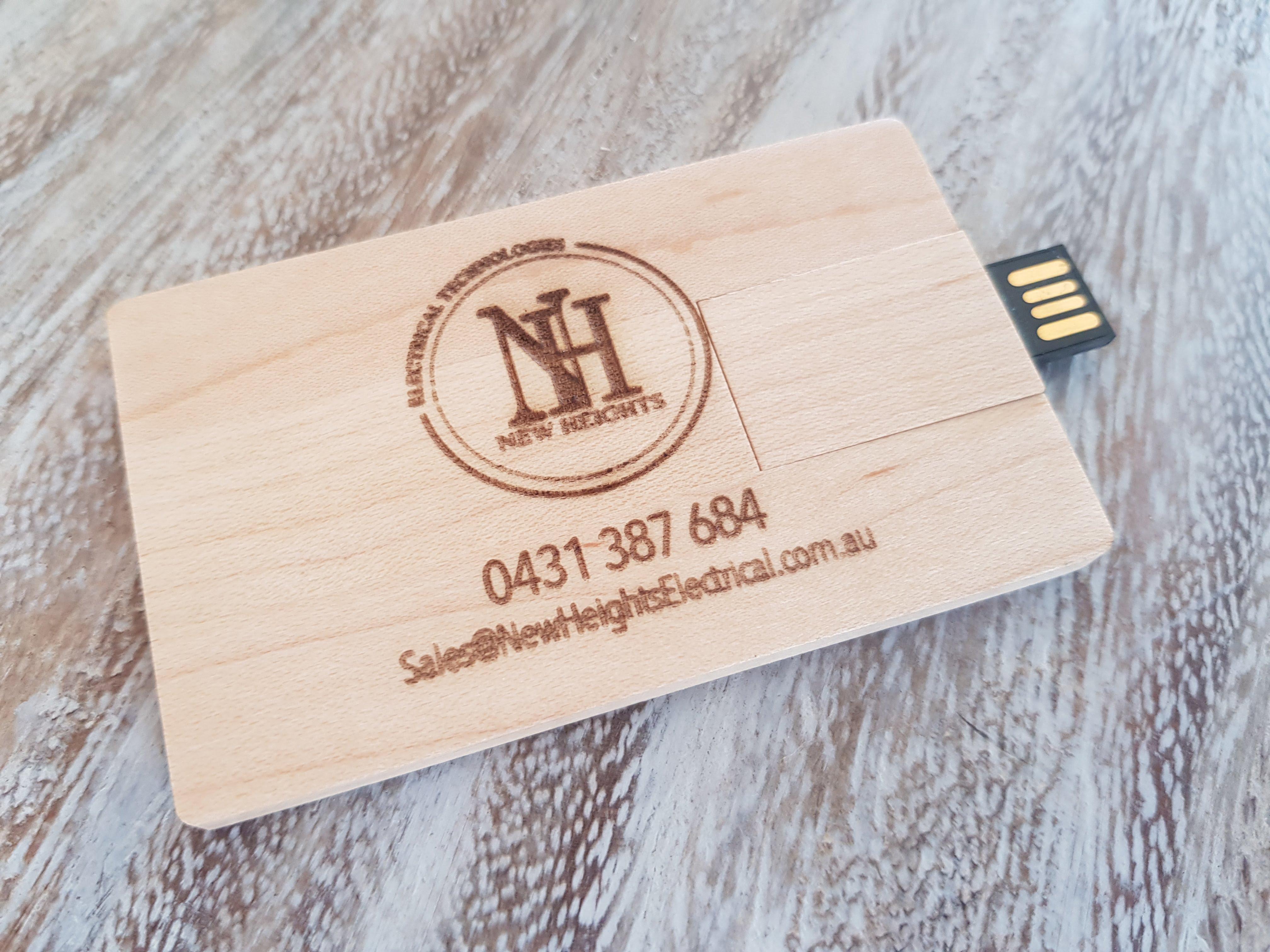 Custom wood usb business cards lucid industries laser cut custom wood usb business cards reheart Images